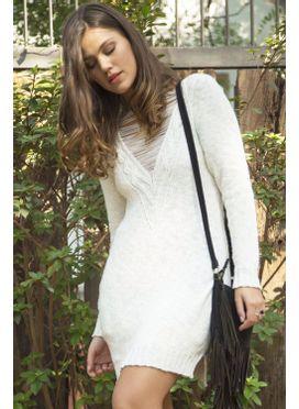 Blusa Tricô Minimal Branca