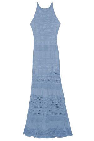 Vestido Tricô Liberty Azul Jeans