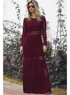 Vestido Tricô Boheme Marsala