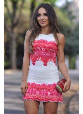 Vestido Tricô Flora Off White