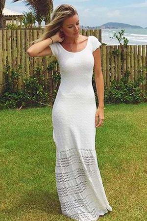 Vestido Capri Rendado Branco