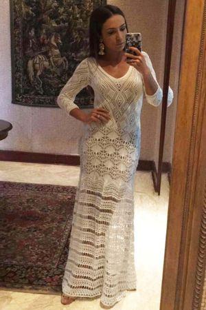 Vestido Longo Renda Lorena Branco