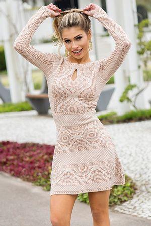 Vestido Tricô Mandala Rosê