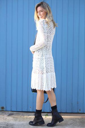 Casaco tricot boheme Off White