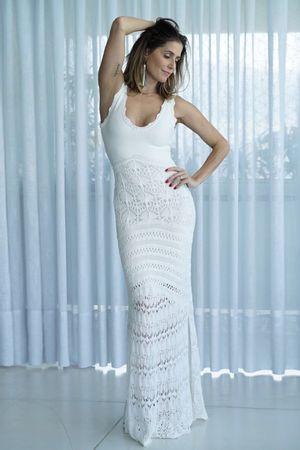 Vestido Longo Sereia Maitê Branco