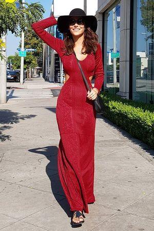 Vestido Tricô Longo Delicate Vermelho