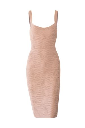 Vestido Midi Bandagem Champagne