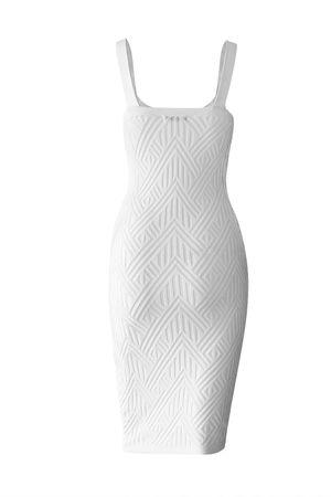 Vestido Midi Bandagem Branco