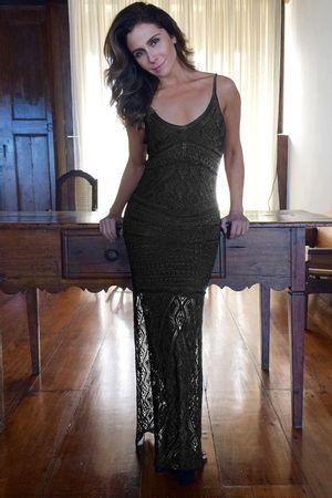 Vestido Tricô Serenity Preto - Giovanna Antonelli