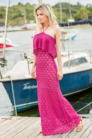 Vestido Decote Amarrar Conchita Pink