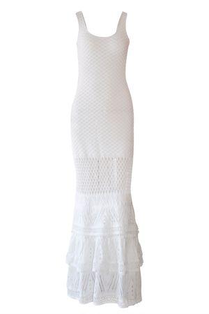 Vestido Tricot Renda Laila Branco