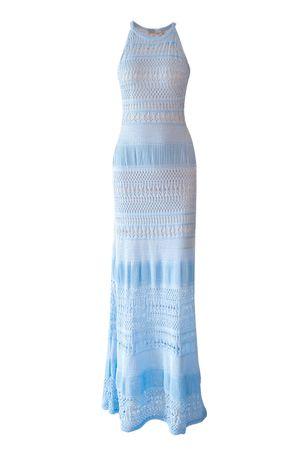 Vestido Tricô Liberty Azul Candy