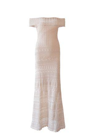 Vestido Tricot Renda Segredo Nude