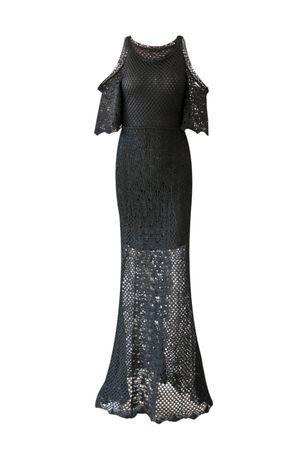 Vestido Tricot Madrepérola Preto