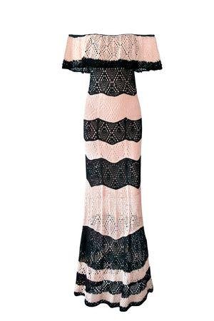 Vestido Tricot Ombro a Ombro Olívia Nude