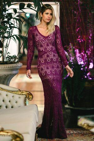 Crystal-Lace-Knit-Dress---Violet----Carol-Tognon