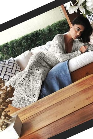 Crystal-Lace-Knit-Dress---Off-White