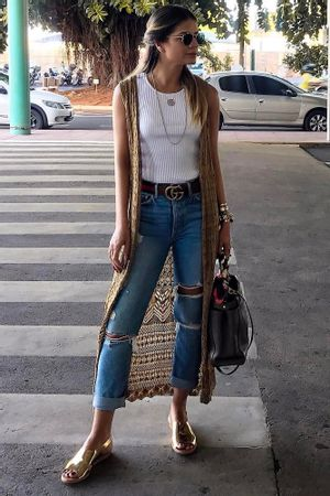 Lace-Long-Knit-Vest---Brown-Thassia-Naves