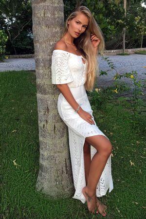 Vestido Ombro a Ombro Chevron Branco