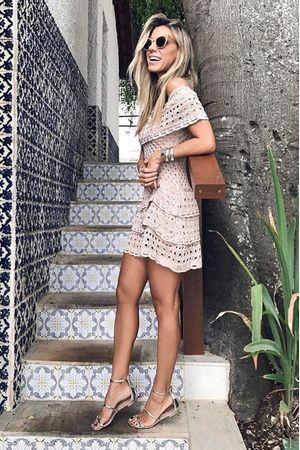 Vestido Crochê Fresh Rosê
