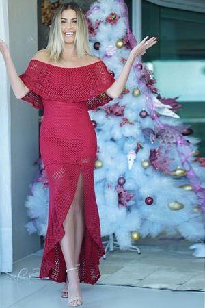 Vestido-Trico-Fenda-Babados-Vermelho-deborah-secco
