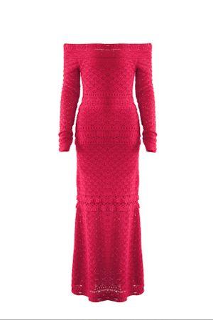 Vestido-Tricot-Lana-Vermelho