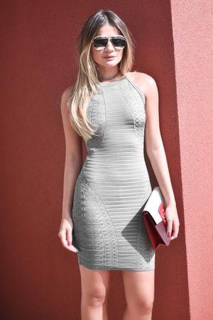 thassia-naves-Vestido-Bandagem-Textura-Cinza