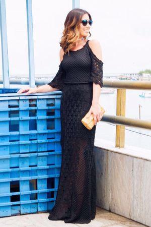 Nicole-Pinheiro-Vestido-Tricot-Madreperola-Preto