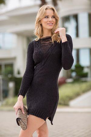 Pullover-dress-Trico-Preto-minimal