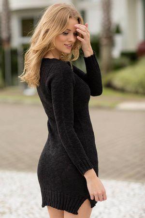 Pullover-dress-Trico-Preto-vestido