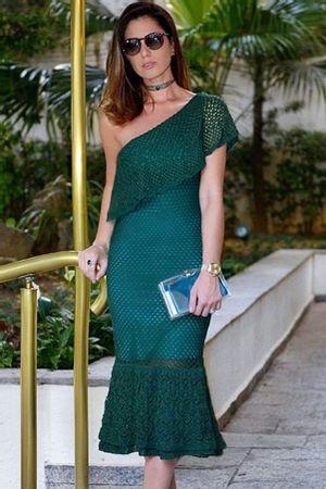 Vestido-Tricot-Ombro-So-Babados-Verde-Armani - Nicole Pinheiro