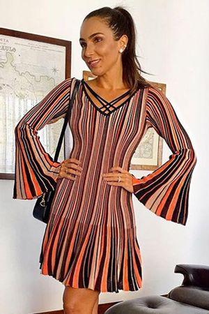 lala-noleto-Vestido-Tricot-Plissado-Collors-Laranja