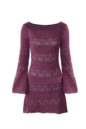 Vestido-Tricot-Rayon-Flare-Uva