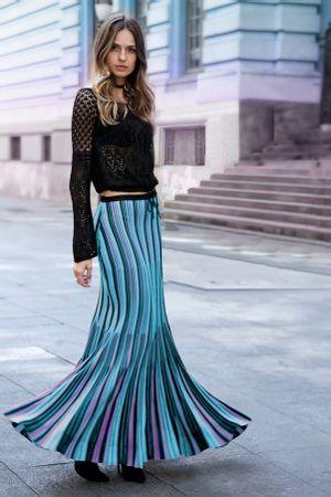Saia-Tricot-Plissada-Collors-Azul