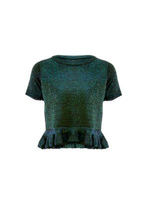 Cropped-Tricot-Metalizado-Verde