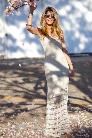 Vestido Tricô Seventies Off White