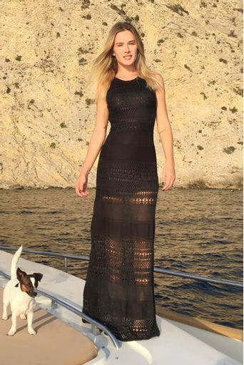Vestido Tricô Liberty Preto - Fiorella Mattheis