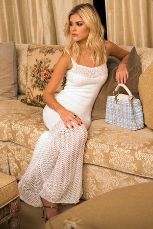 Vestido Bandagem Princesa Branco