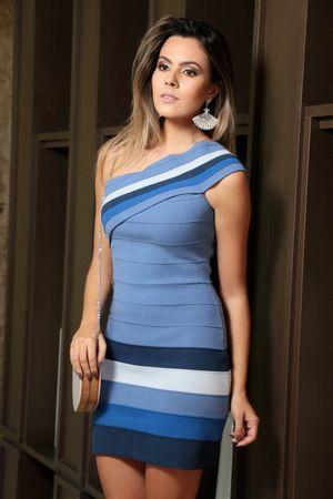 Vestido Bandagem Degradê Azul