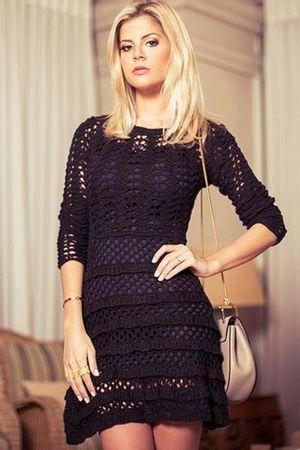 Lace-Knit-Dress---Black---Lala-Rugde