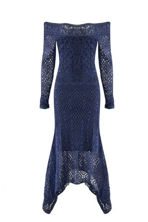 Vestido-Tricot-Pontas-Azul