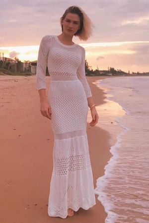 Boheme Knit Dress - Cream