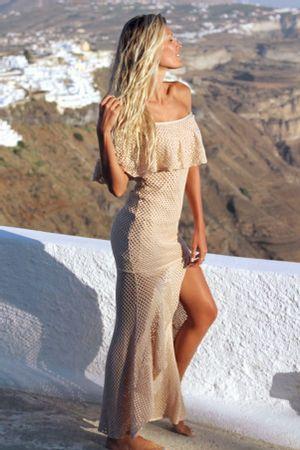 Vestido-Tricot-Fenda-Babados-Nude