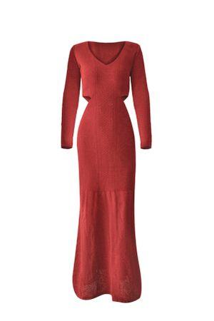 Vestido-Trico-Longo-Delicate-Vermelho