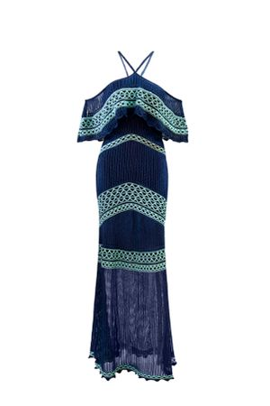 Vestido-Tricot-Pesponto-Azul