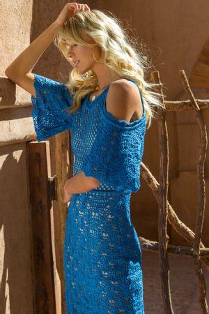 Pearl Knit Dress - Blue