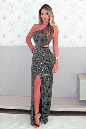 Vestido-Lurex-Plissado-Fenda-Prata-Jessica-Gomes