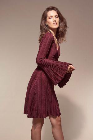 Vestido-Trico-Plissado-Madri-Marsala