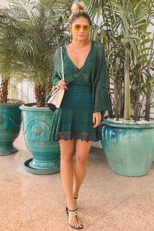 Vestido Tricot Malaga Curto Verde
