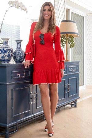 Vestido Tricot Valência Vermelho